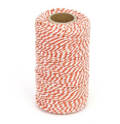 Orange and White Chunky Twine Bolt