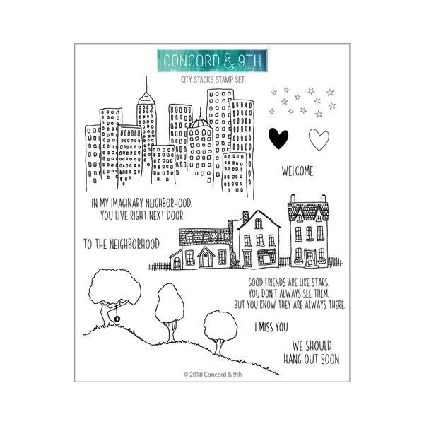 Concord and 9th City Stacks Clear Stamp Set