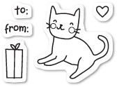 Kitty Cat Gift Clear Stamp Set CL437