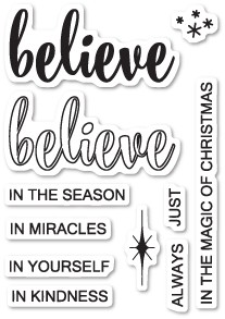 Poppystamps Do You Believe clear stamp set CL456