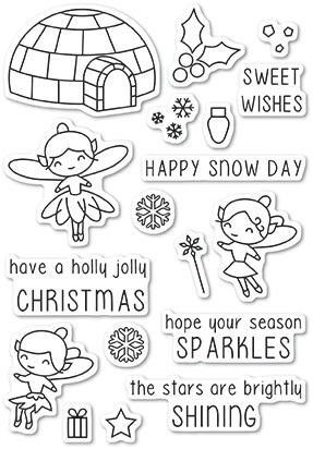 Poppystamps Wintertime Fairies clear stamp set CL458
