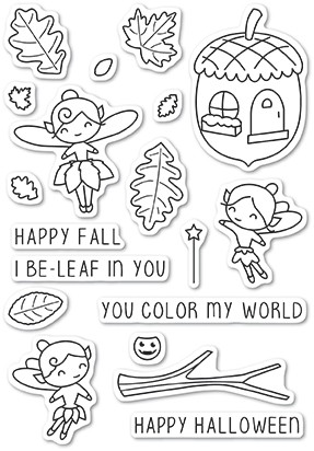 Poppystamps Autumn Fairies clear stamp set CL459
