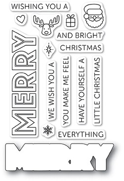 Poppy Stamps Merry Everything clear stamp set