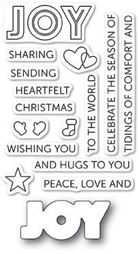 Poppy Stamps Tidings of Joy clear stamp set