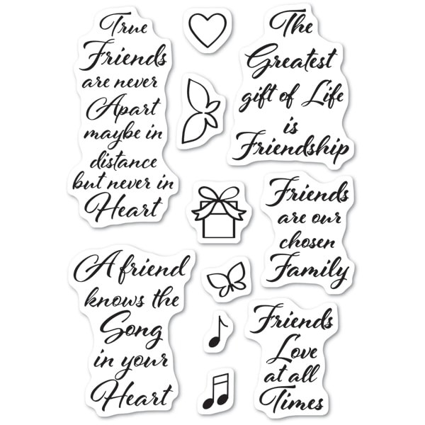 Love and Friendship Clear Stamp Set CL474