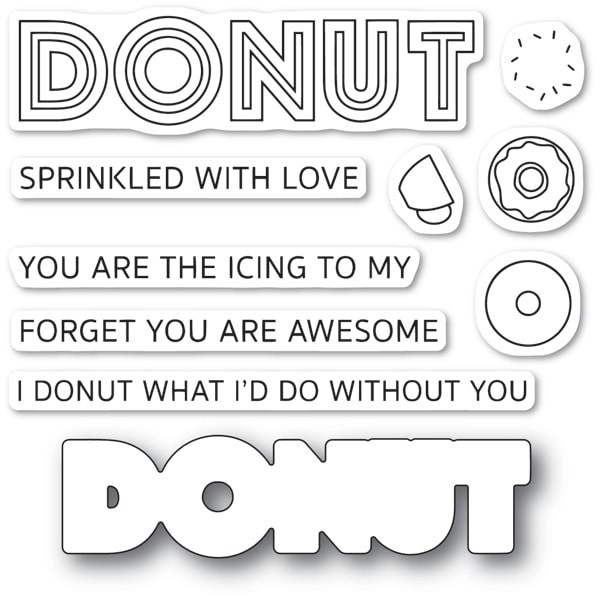 Poppy Stamps Donut What I'd Do Clear Stamps CL474