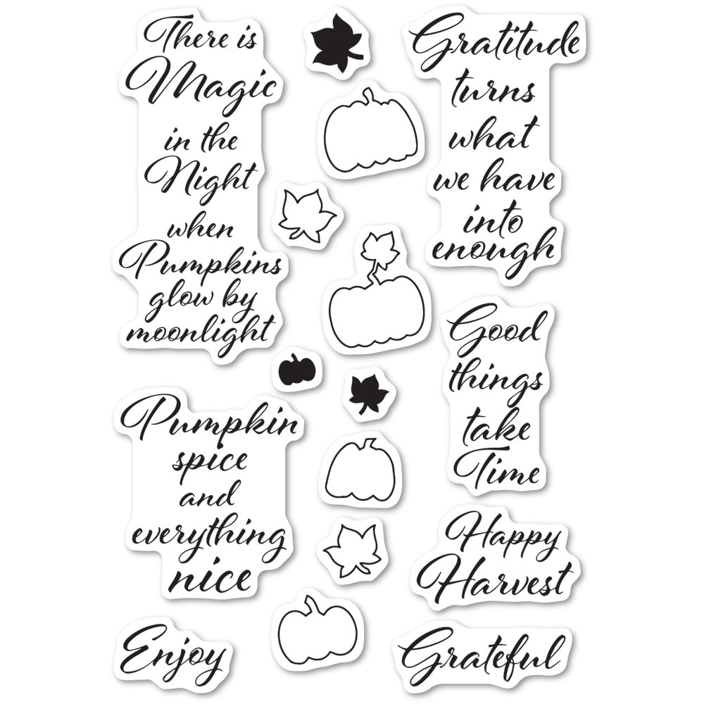 Poppystamps Pumpkin Patch clear stamp set CL486