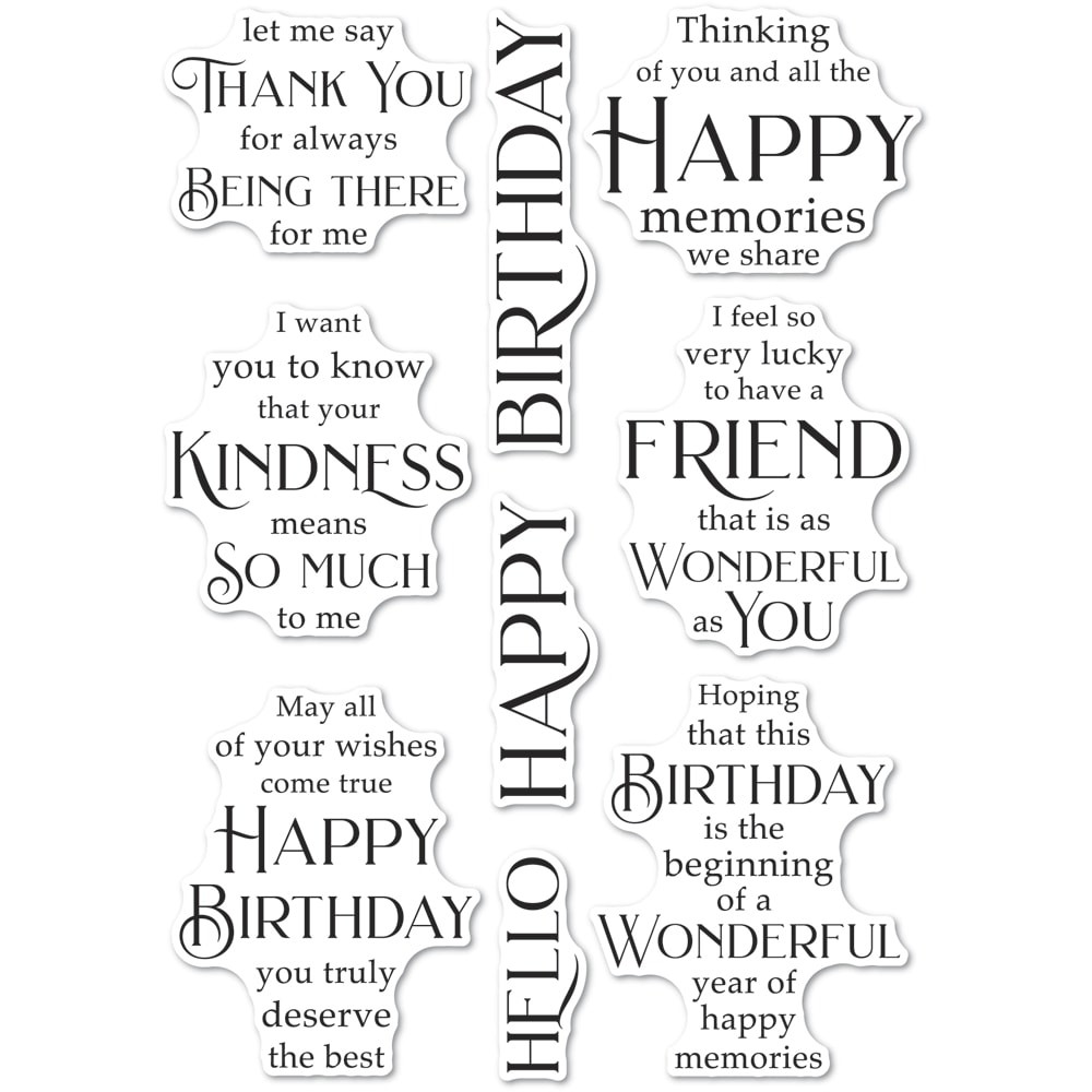 Poppystamps Friendship and Kindness clear stamp set CL492