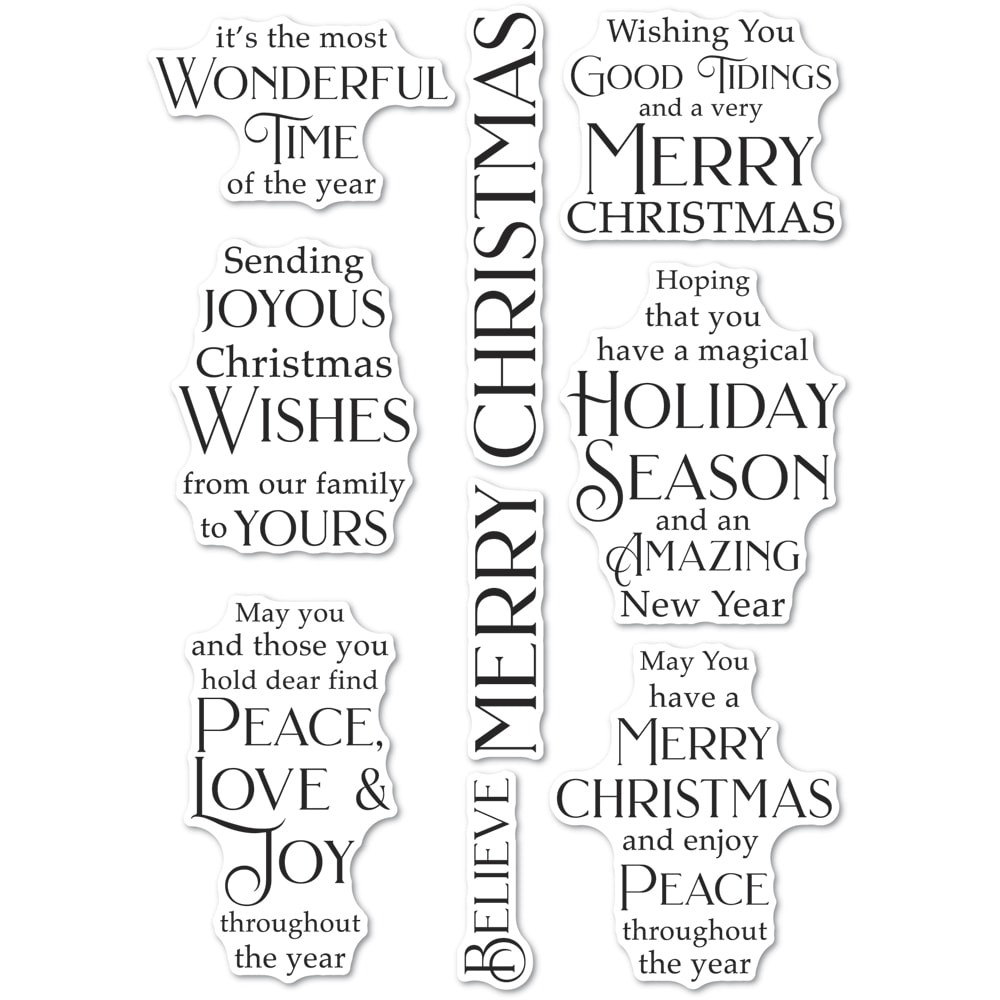 Poppystamps Joyous Christmas Wishes clear stamp set CL497
