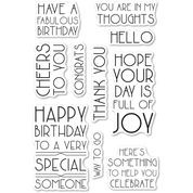 poppystamps Art Deco Birthday Greetings clear stamp set CL499