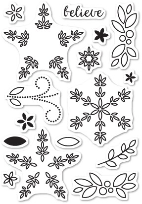 Poinsettia Surprise Clear Stamp Set CL5182
