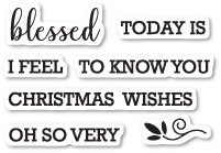 Memory Box Blessed to Know You Clear Stamp Set CL5213