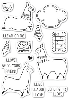 Llama Love clear stamp set cl5219