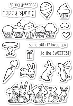 Memory Box Spring Bunnies clear stamp set 5220