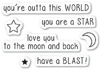 Memory Box Outta This World clear stamp set 5221