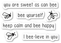 Memory Box Bee Yourself clear stamp set