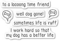 Memory Box Dog Gone clear stamp set cl5223