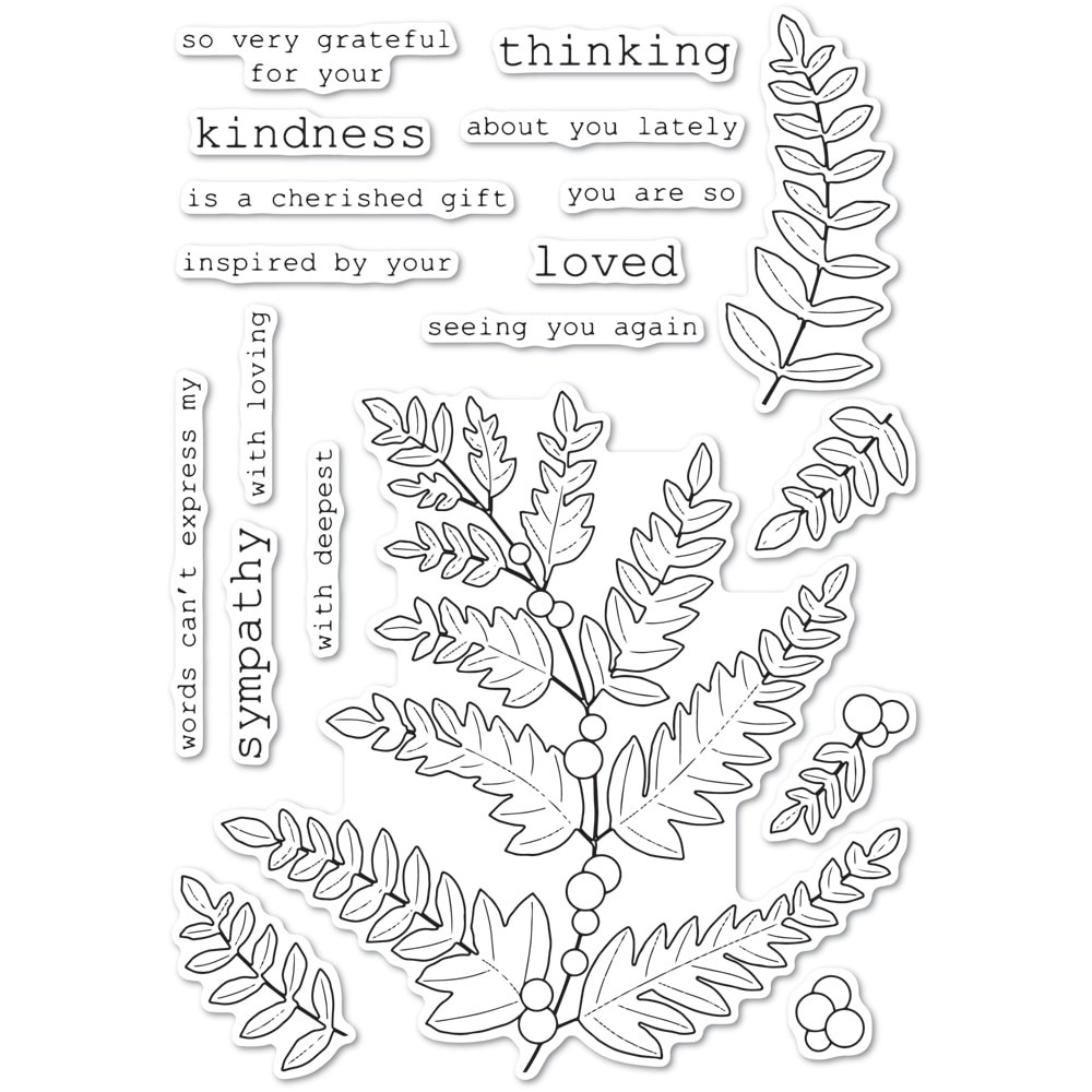 Memory Box Fern and Berries clear stamp set CL5249