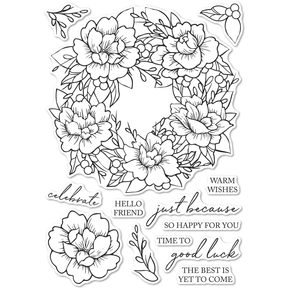 Memory box Peony Garden Wreath CL5257