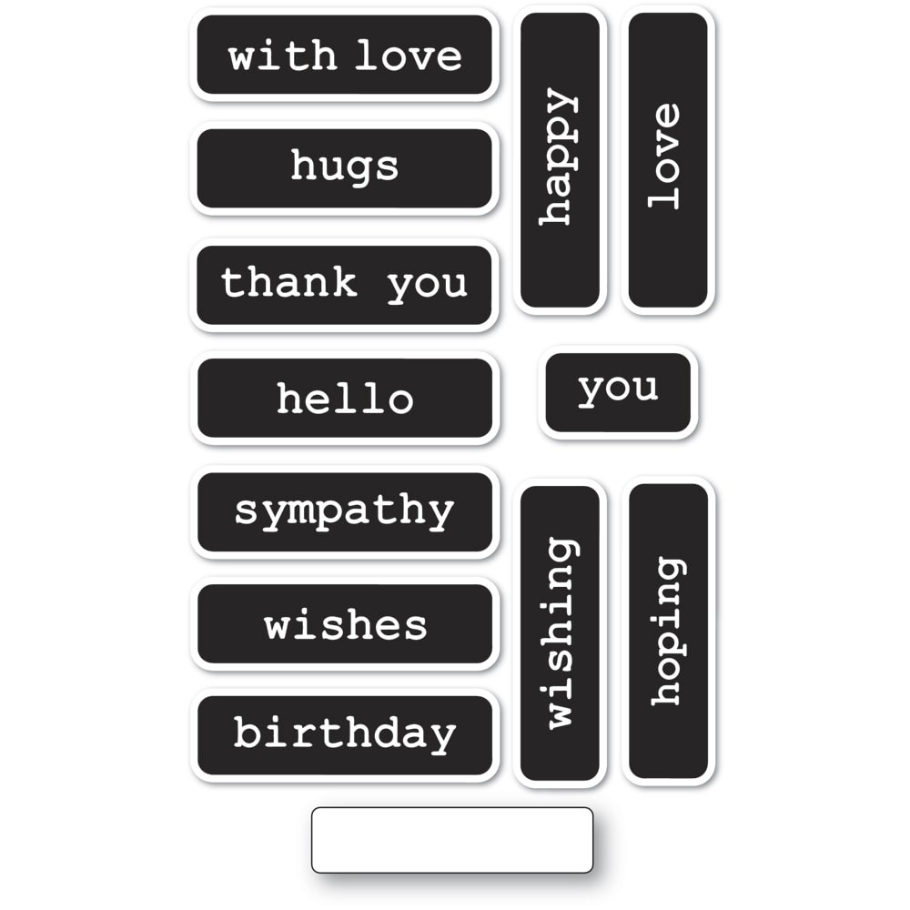 Memory Box Big and Little Reverse Words clear stamp set cl5259