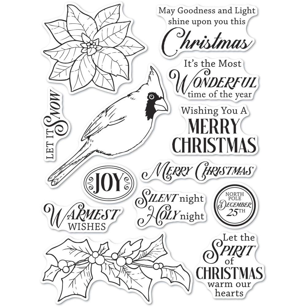 CL5261 Spirit of Christmas clear stamp set