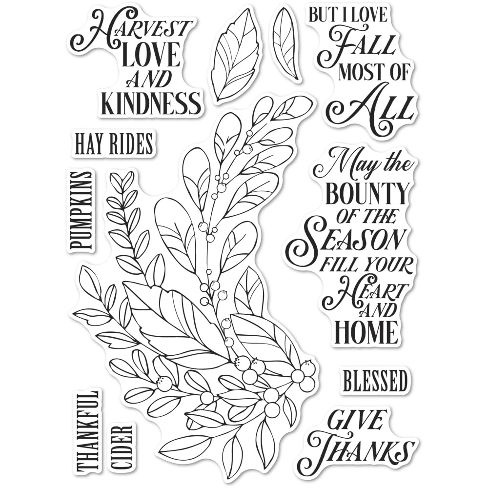 CL5262 Harvest Love and Kindness clear stamp set