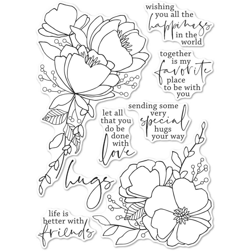 Memory Box All the Happiness clear stamp set CL5265