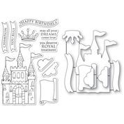 Memory Box Majestic Achievements clear stamp and die set CL5267D