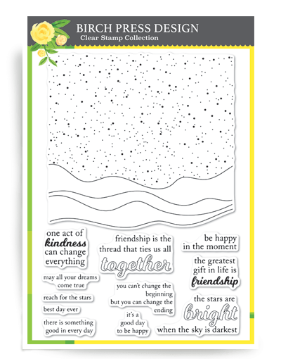 Birch Press Celestial Waves Clear Stamps cl8144