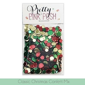 Pretty Pink Posh Classic Christmas Confetti Mix