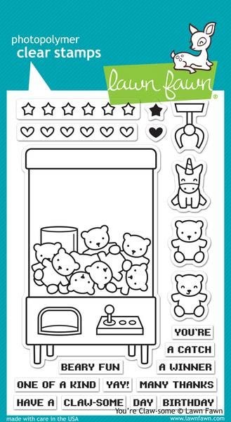 Lawn Fawn You're Claw-some Clear Stamp Set