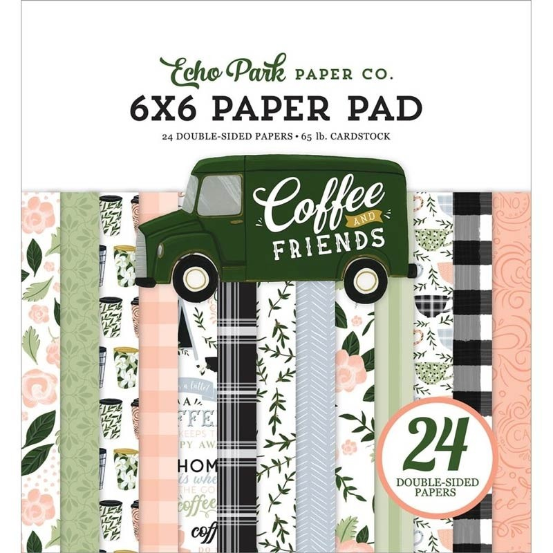 Echo Park Coffee and Friends 6x6 Paper Pad