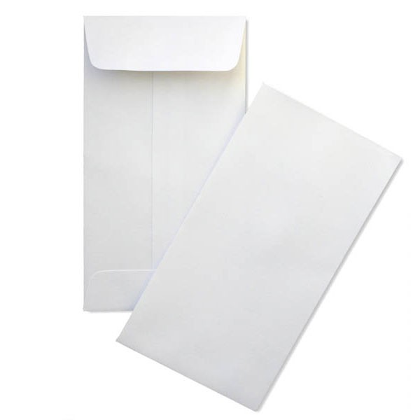 White Slim Envelopes
