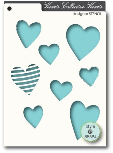 Memory Box Collective Hearts Stencil (88594)