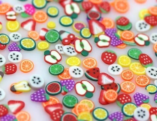 HAI Colorful Fruit Embellishments