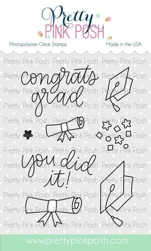 Pretty Pink Posh Congrats Grad Stamp Set