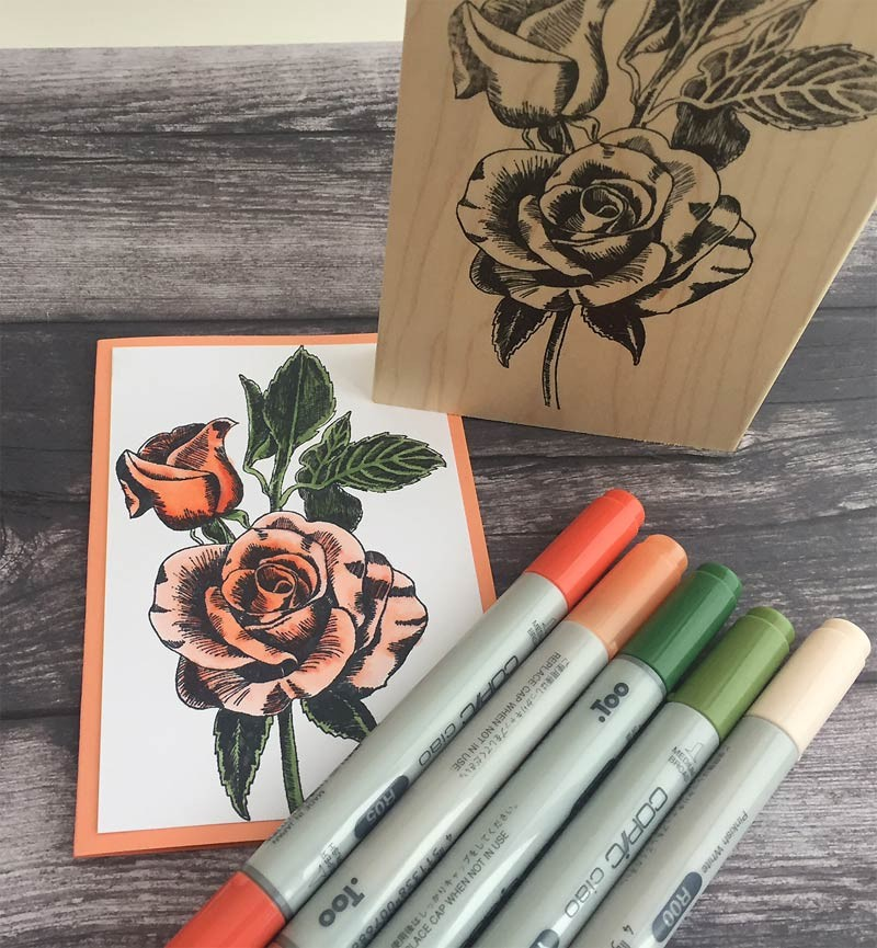 Copic Rose