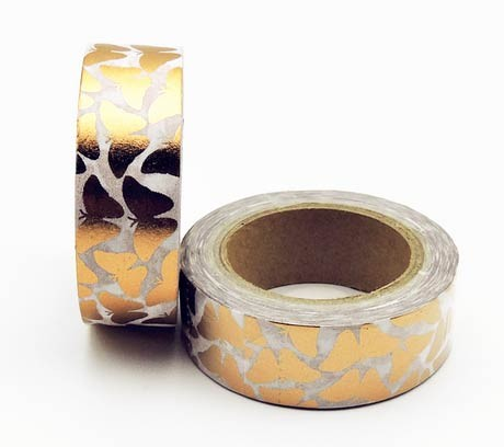 Copper Butterflies Washi Tape