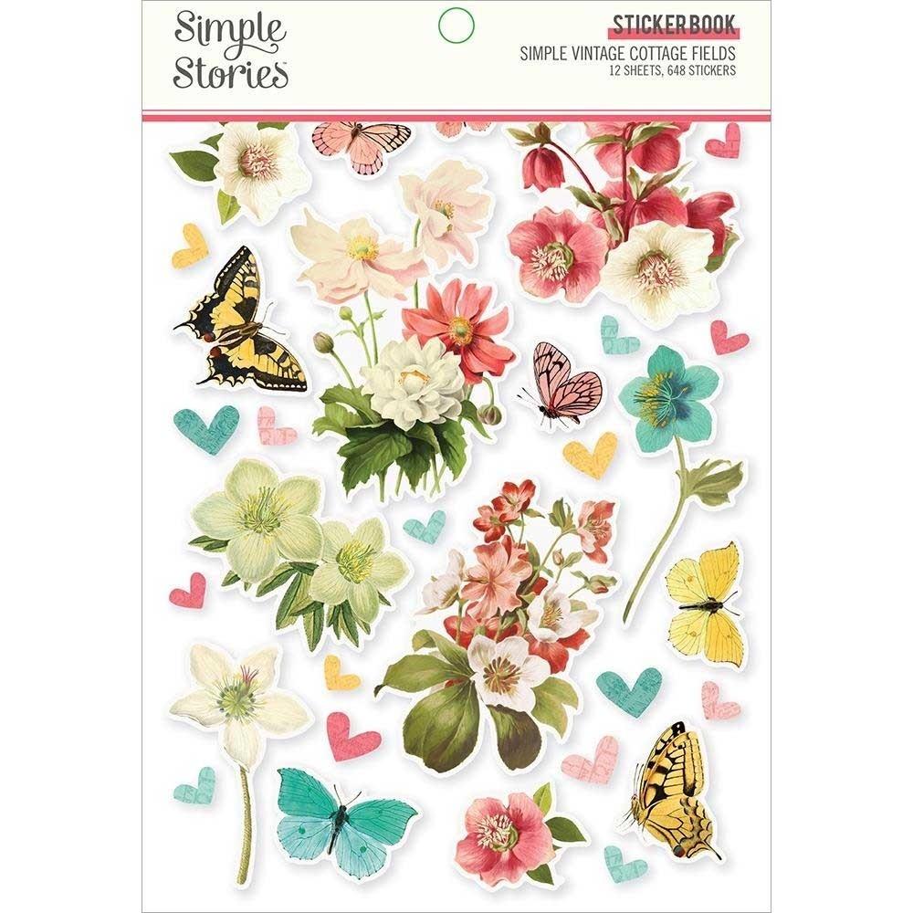 Simple Stories Cottage Fields Sticker Book