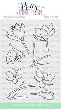 Pretty Pink Posh Crocus Flowers  stamp set