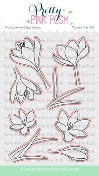 Pretty Pink Posh Crocus Flowers  die set