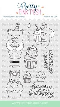 Pretty Pink Posh Cupcake Critters Stamp Set