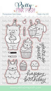Pretty Pink Posh Cupcake Critters  dies