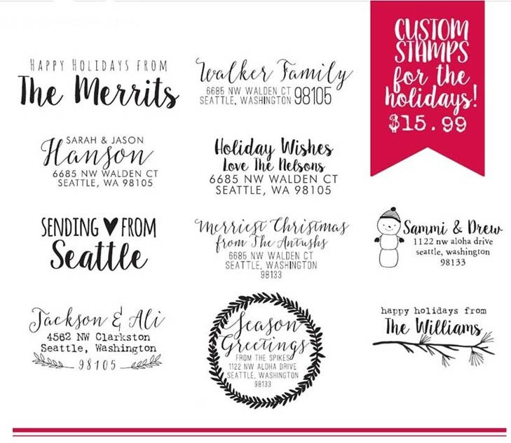 New Holiday Custom Stamps