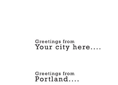 Greetings from your city!