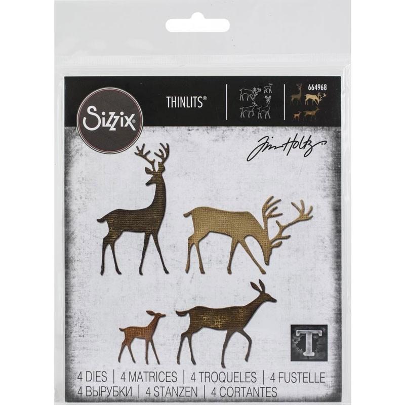 Sizzix Dies Tim Holtz Thinlits Darling Deer
