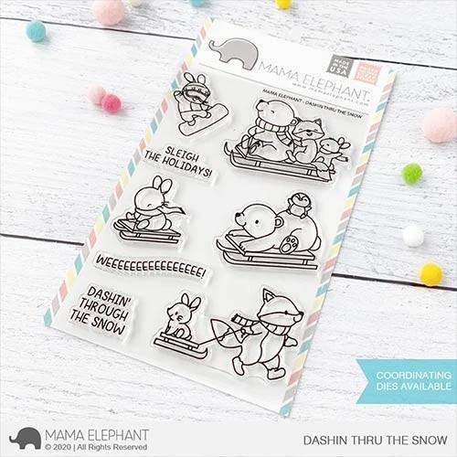 Mama Elephant DASHIN THRU THE SNOW