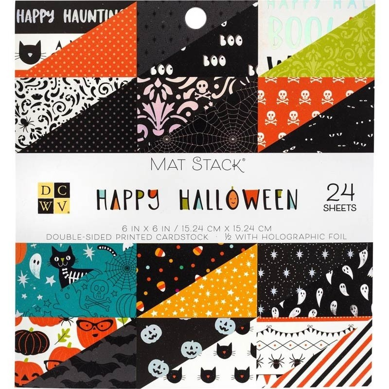 SALE - Happy Halloween Mat Stack 6x6
