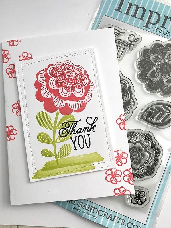 Impress Deco Chalk Flower  Set