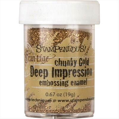 Stampendous Chunky Gold Deep Impression Embossing Enamel